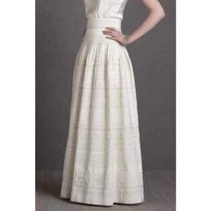 BHLDN White Silk Swells Bridal Wedding Skirt NWOT
